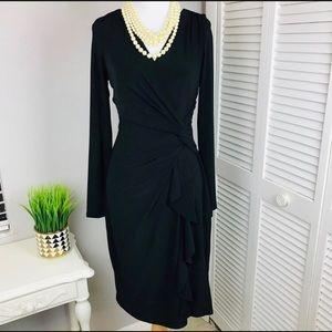 Ralph Lauren Faux Wrap Black Dress